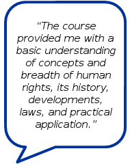 Testimonial by course participant