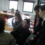 HREA's Director Felisa Tibbitts, on the right, conducting a training on NGO Project Development and Management in Istanbul in January 2004
