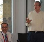 HREA's Frank Elbers with Plan Academy Manager Don McPhee (right) at a recent meeting at Plan International headquarters